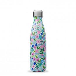 Gourde bouteille nomade isotherme - 500 ml - Flora bleu