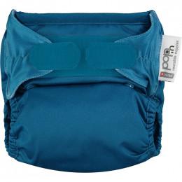 Couche lavable Pop-In V2 taille unique - Velcros - Bleu paon