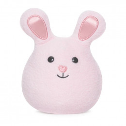 Mini hochet grelot Bunny - Rose