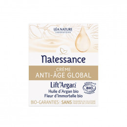 Crème huile nuit Bio - Lift argan - Anti âge global - 50 ml
