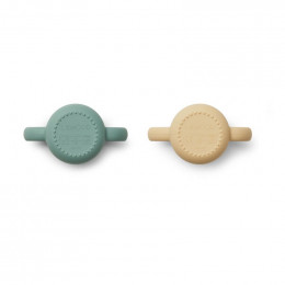 Gobelets en silicone Gene - 2 pack - Rabbit peppermint wheat yellow mix