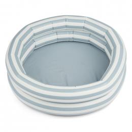 Piscine Leonore - Stripe: Sea blue&creme de la creme