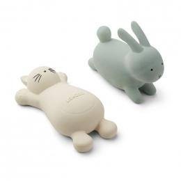 Set de 2 jouets de bain Vikky Cat creme de la creme