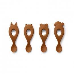Set de 4 cuillères Liva en silicone - Mustard