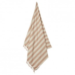 Serviette de plage Mona - Y&D stripe: Tuscany rose&sandy