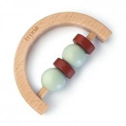 Hochet demi-cercle en bois - Mint rust