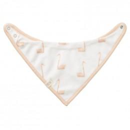 Bavoir bandana - Swan pale peach