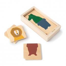 Puzzle animaux combo en bois