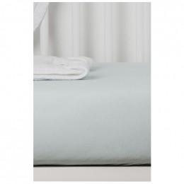 Drap Housse en Coton Bio pour lit bébé - 60x120 cm - Gris perle