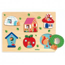 Puzzle en bois - Coucou-house