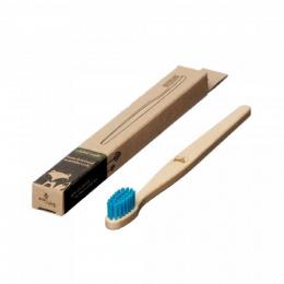 Brosse à dent en bois Enfant - Renard - Turquoise
