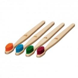 Brosse à dent en bois Enfant - Renard - Vert