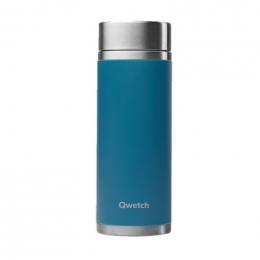 Théière nomade isotherme en inox 400 ml - Bleu canard