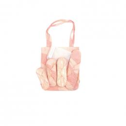 Kit de départ - serviettes hygièniques lavables - coton BIO - Gouttes Rose