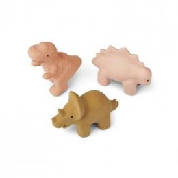 Set de 3 jouets de bain David - Dino rose multi mix