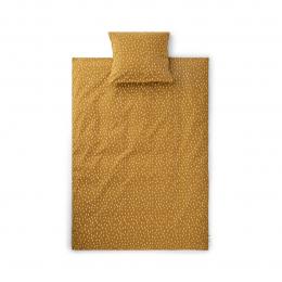 Housse de couette lit bébé Ingeborg - Graphic stroke/golden caramel