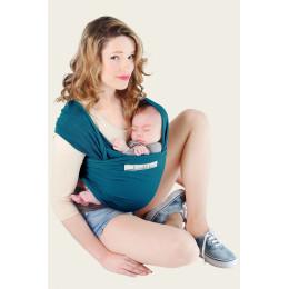 Echarpe porte-bébé basic - bleu rétro