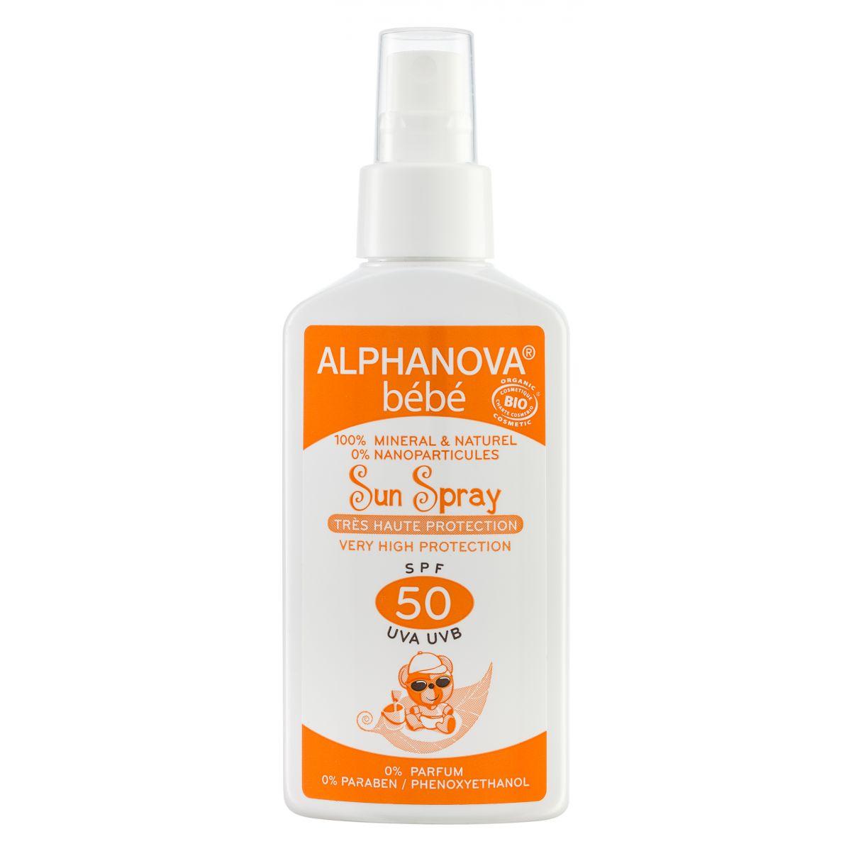 45ec858c0af Sun spray Bébé SFP50 100% minéral et naturel - lait solaire - 125g ...
