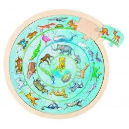 """Puzzleen bois """"cercle d'animaux"""" - à partir de 3 ans"""