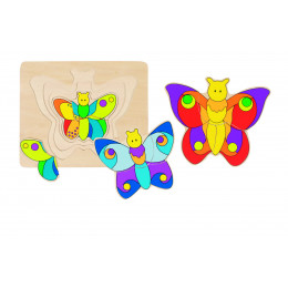"""Puzzle en bois """"papillon"""" - à partir de 2 ans"""