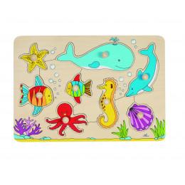 """Puzzleàencastrement """"animaux de la mer"""" - à partir de 1 an"""