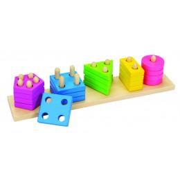 Tablette à ranger: formes et couleurs - à partir de 2 ans