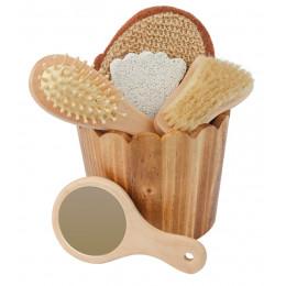 Cadeauset uit verwarmd hout