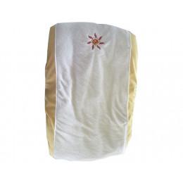 Aankleedkussenhoes van katoen Zon met gele rand