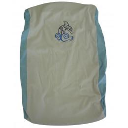 Aankleedkussenhoes van katoen Dolfijn met blauwe rand