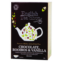Rooibos chocolade vanille Bio 20 zakjes