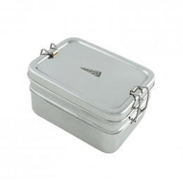 Inox doos met twee lagen en mini doosje - 900 ml