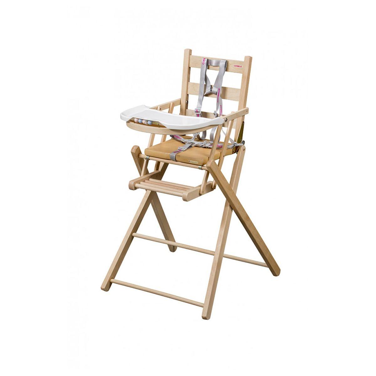 Kinderstoel Voor Op Reis.Hoge Kinderstoel Extra Plooibaar 84 Natuurlijk Vernis Sebio