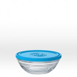 Ronde glazen kom met deksel - 14 cm - 50 cl