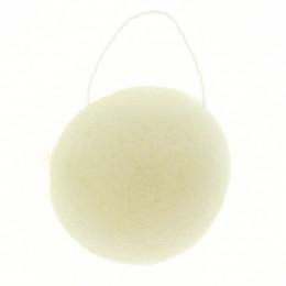 Ronde Konjac spons - Witte klei / rijpe huid