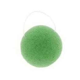 Ronde Konjac spons - Groene klei / gemengde huid