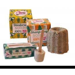Kennismakingskit - Solide deo, tandpasta en shampoo