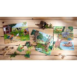 Leuke set van 3 thema puzzeltjes - Dieren
