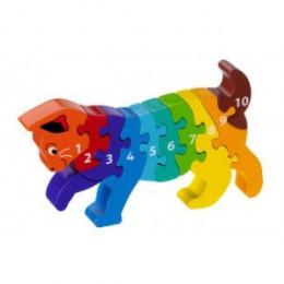 Houten 3D-puzzel - Katje 1-10