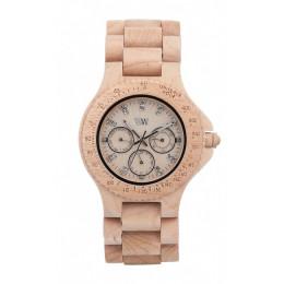 Houten horloge Cignus Beige