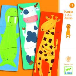 Houten Kinderpuzzel - 1 2 3 Animo