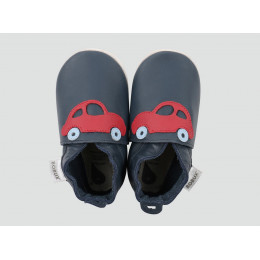 Kinderslofjes - Soft Sole - Giants - Navy Car