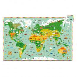 Kinderpuzzel Reis Rond De Wereld - 200 Stuks