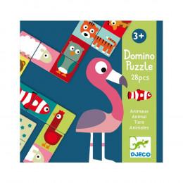 Kinderspel Met Dubbelzijdige Domino's - Dierenpuzzels