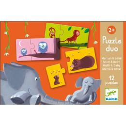 12 Duo Puzzels Dieren - Mama En Baby