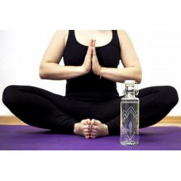 Glazen fles - Just breathe - 600 ml