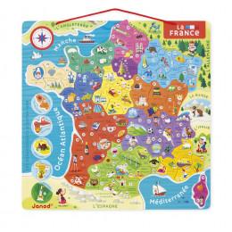 Magnetische puzzelkaart 'Frankrijk' - vanaf 7 jaar