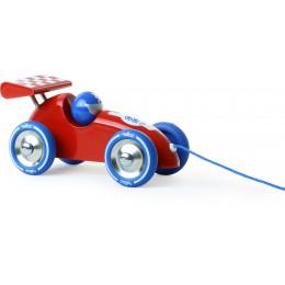 Trekfiguur racewagen 'rood/blauw' - vanaf 1 jaar