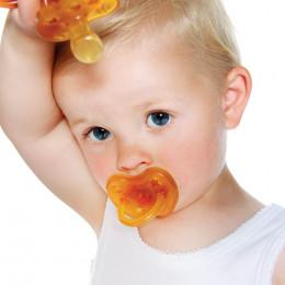 Fopspeen - Natuurrubber - Orthodontisch - 3-36 maanden - Sterren & maan