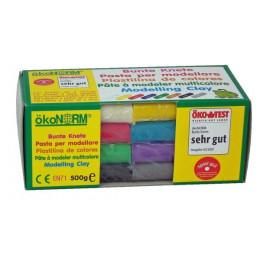 Plasticine - Doos met 8 gekleurde staven