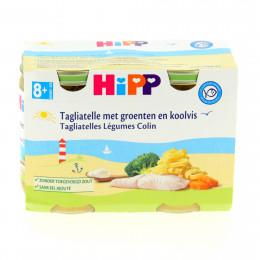Tagliatelle met groenten en koolvis Bio vanaf 8 maanden 2 x 190 g